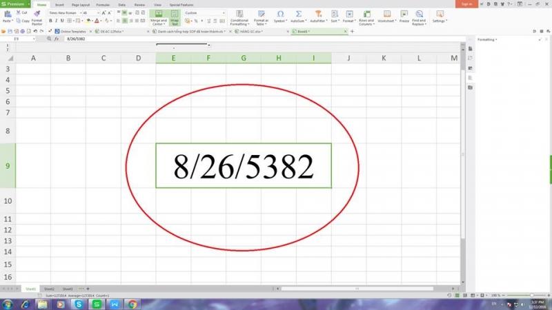 Nhấn Ctrl + Shift + # để áp dụng định dạng ngày tháng / tháng / năm.