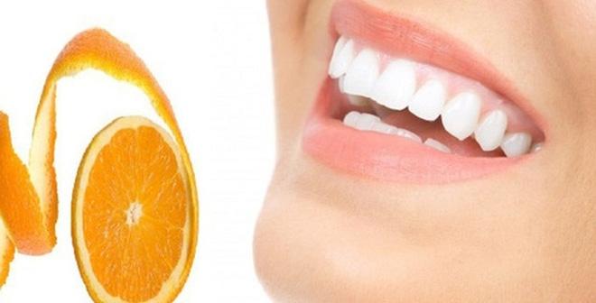Vỏ cam làm trắng răng hàng này