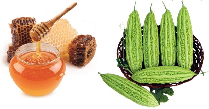 Cách trị mụn ẩn dưới da bằng bột khổ qua (mướp đắng) và mật ong