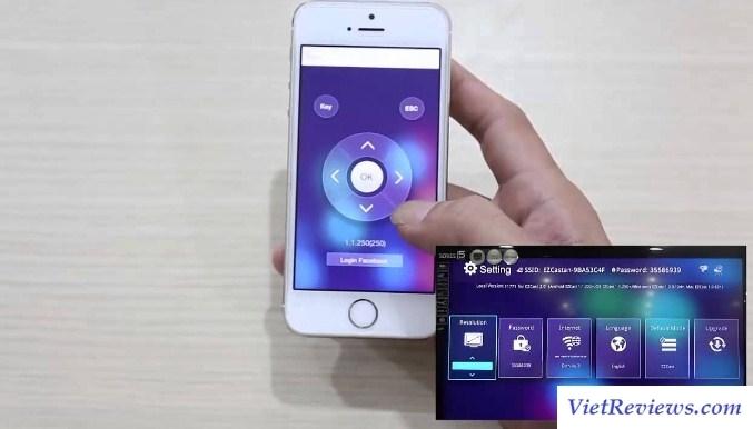 Truyền hình ảnh từ điện thoại lên tivi bằng AirPlay.