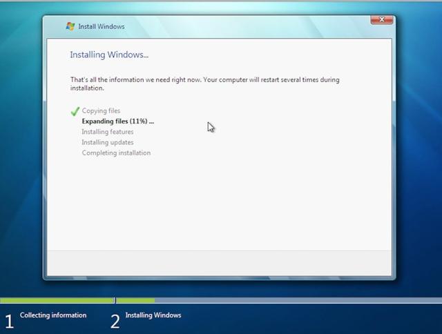 Cài lại Windows nếu máy bị nhiễm virus