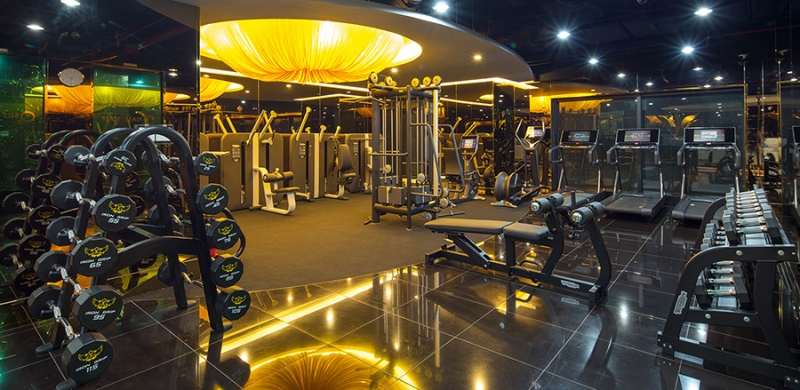 Một góc khu tập luyện của California Fitness & Yoga Center tại chi nhánh Hai Bà Trưng, Hà Nội.