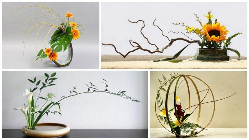 Nét độc đáo nằm ở đường nét và sự hài hòa của các loài hoa khi được cắm vào bình
