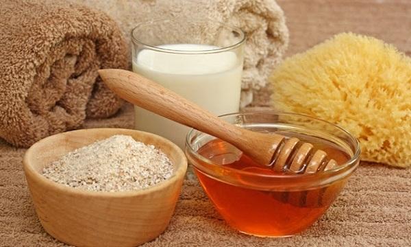 cám gạo , mật ong, sữa tươi , cam giúp da trắng bậc tông nhanh hơn