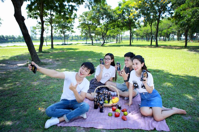 picnic nho nhỏ  tại công viên