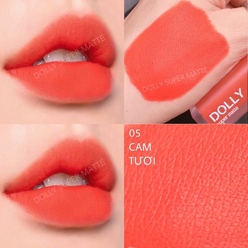Màu cam tươi giúp đôi môi ngọt ngào như trái cam ngọt chín