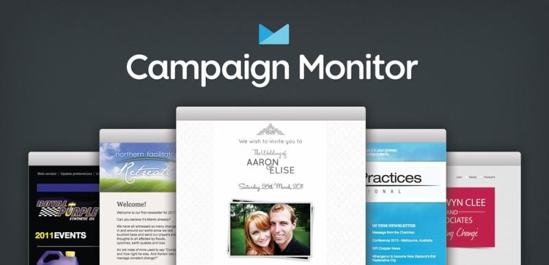 Giao diện của CampaignMonitor