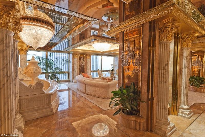 Penthouse xa xỉ của gia đình ông Trump