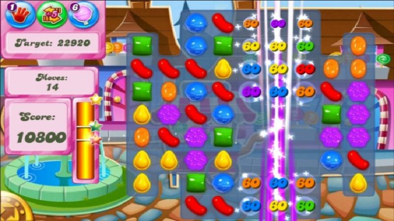 Hình ảnh những viên kẹo ngọt ngào trong các màn chơi