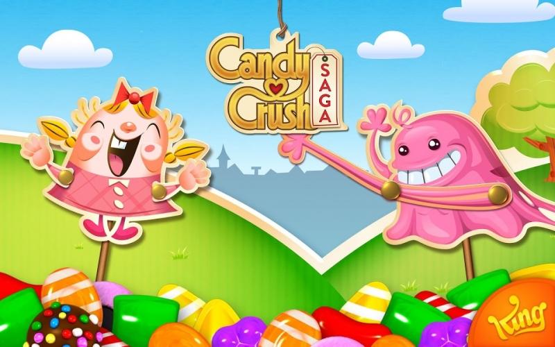 Candy Crush Saga với giao diện và đồ họa ngọt ngào