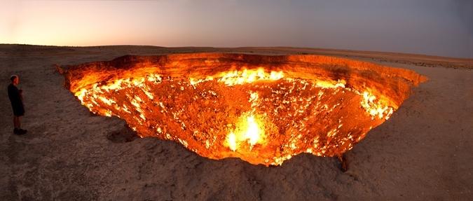 Cánh cửa để đến địa ngục nằm ở Turkmenistan