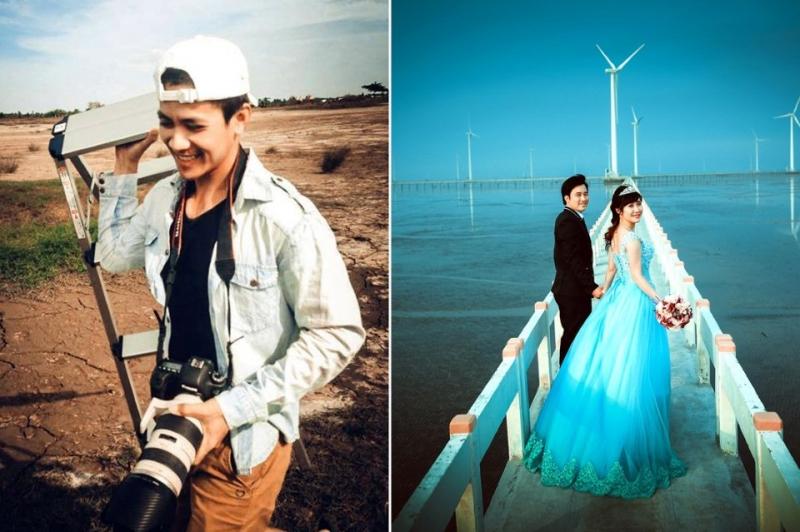 Bộ ảnh cưới chụp tại cánh đồng điện gió Bạc Liêu