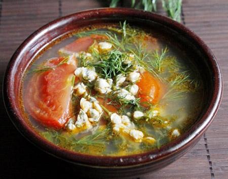 Canh hến chua
