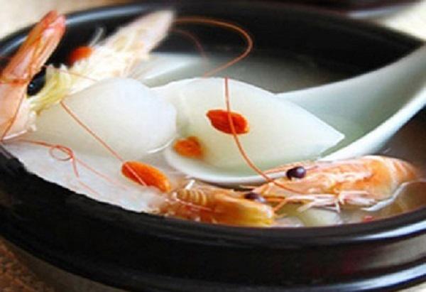 Món canh hấp dẫn canh tôm củ cải trắng