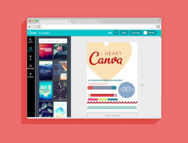 Giao diện trang  Canva