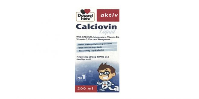 DoppelHerz - Calciovin Liquid - Giúp xương chắc khỏe và phòng ngừa loãng xương