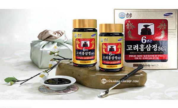 Cao Hồng sâm Hàn Quốc 365 là sản phẩm được tạo thành sau khi chiết xuất những tinh túy của củ hồng sâm