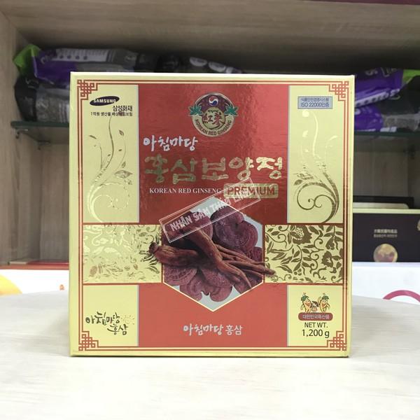 Cao Hồng Sâm Linh Chi Kanghwa Korean Red Ginseng Premium Hộp 1 Hủ 1kg