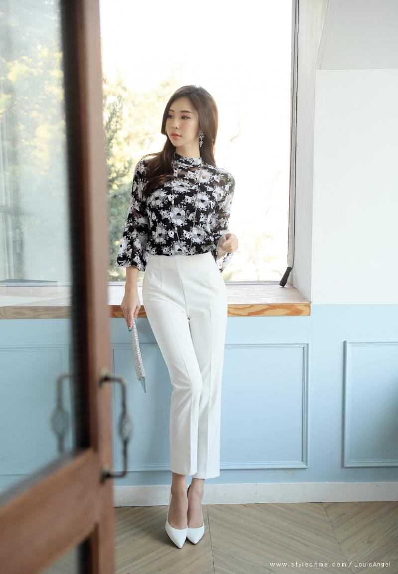Sơ mi kiểu nữ Hàn Quốc BL26617 (hình ảnh lấy từ website của shop)