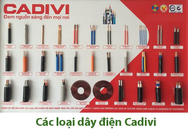 Các loại dây điện Cadivi