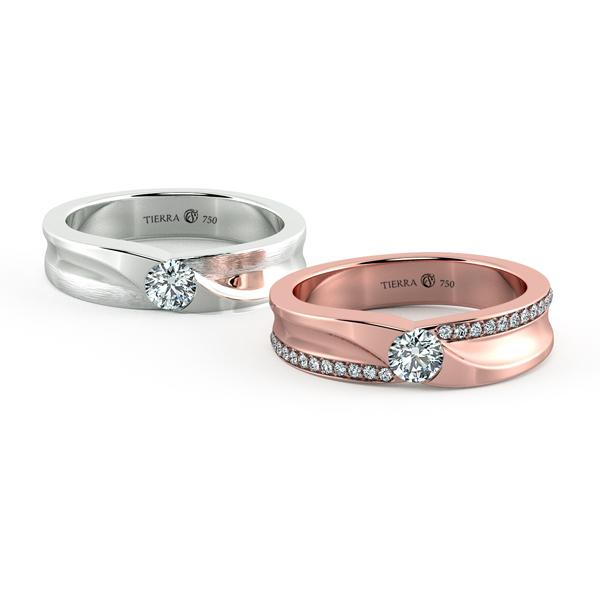 Cặp nhẫn cưới kim cương NCC3010
