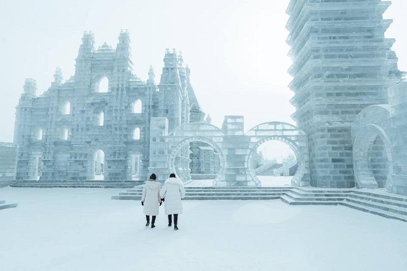 Những công trình kiến trúc, điêu khắc bằng băng độc đáo