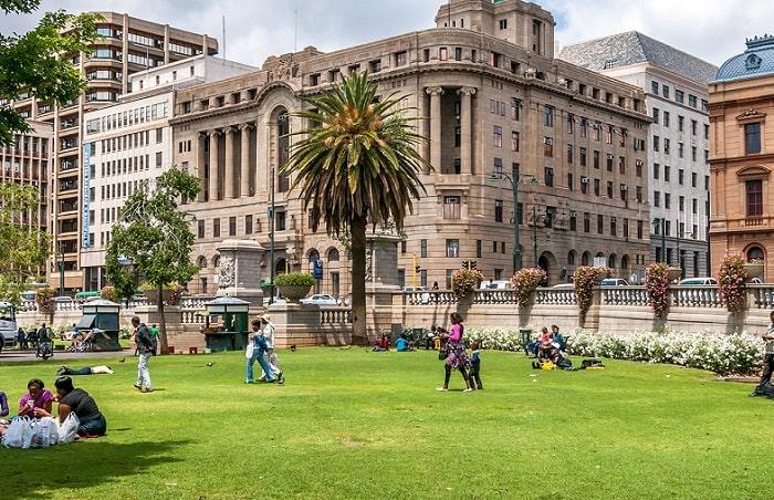 Đi bộ khi tham quan các địa điểm ở Cape Town