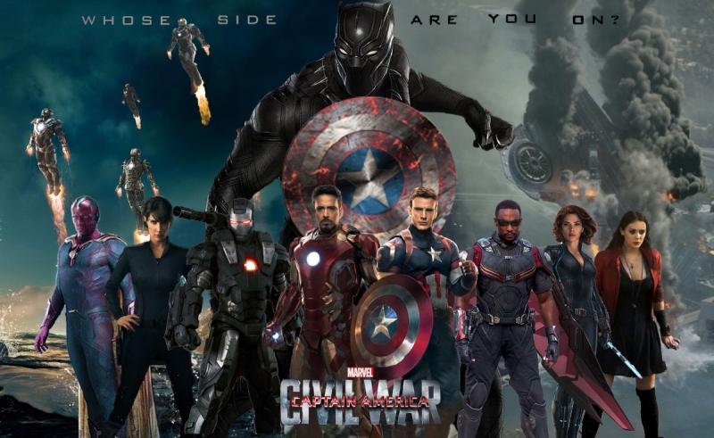 Captain America: Civil War (2016) là cuộc đối đầu giữa Iron Man và Caption American