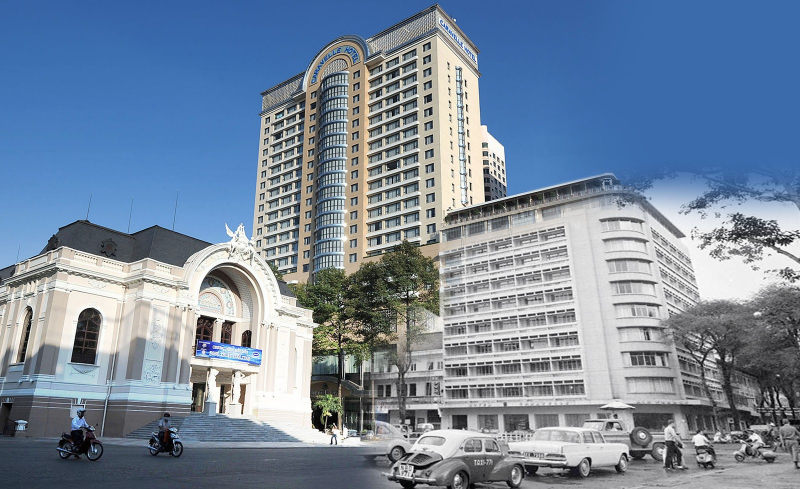 Khách sạn Caravelle và nhà hát thánh phố