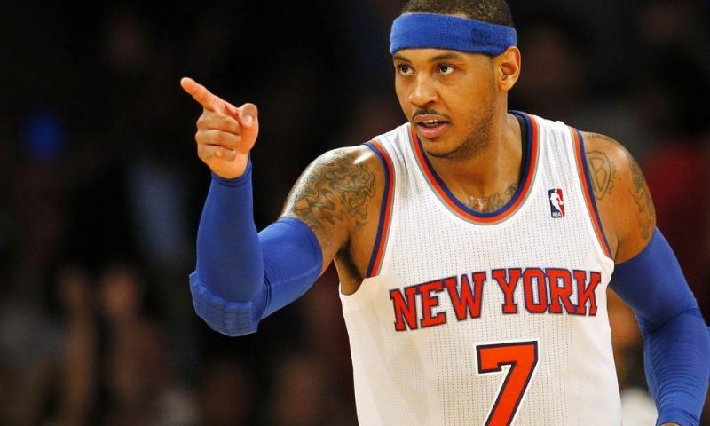 Carmelo Anthony chơi ở vị trí Small forward trong đội hình New York Knicks