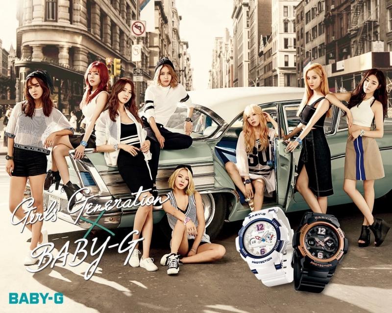 Nhóm nhạc nổi tiếng Girls Generation làm đại diện quảng cáo cho BABY-G, thiết kế đồng hồ cá tính năng động, phù hợp với nhiều loại trang phục. Có giá dao động từ 2 triệu đến 5 triệu một chiếc