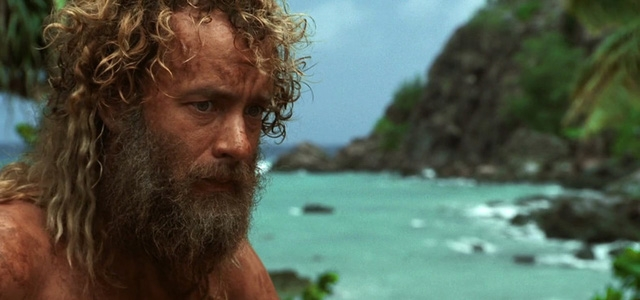 Tom Hank trong một cảnh quay của phim Cast Away