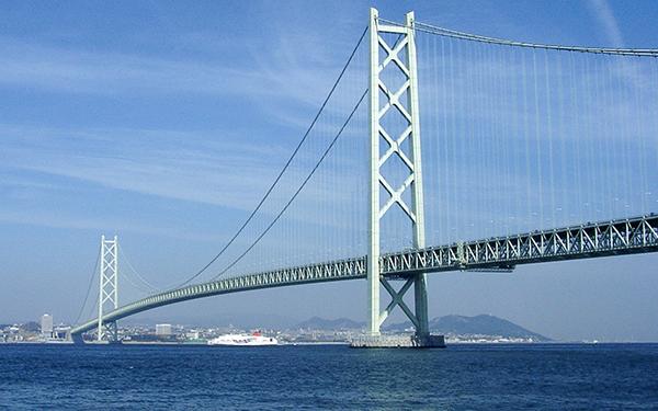 Cầu Akashi Kaikyo, eo biển Akashi, Nhật Bản