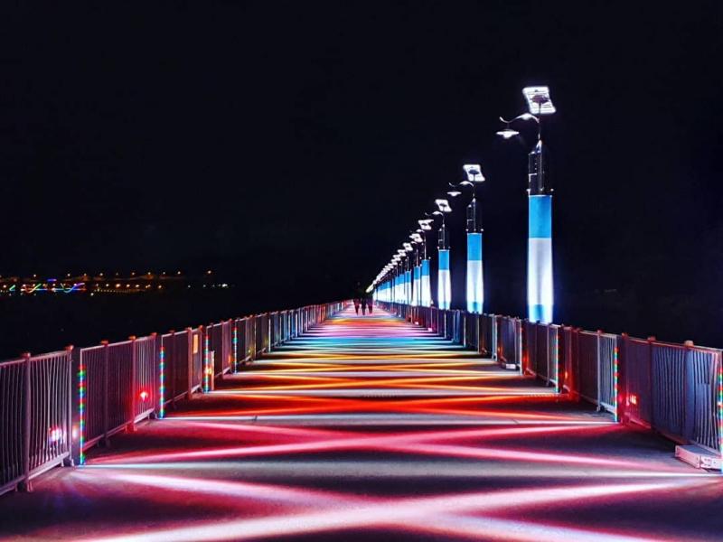 """Cầu Cầu Vồng"" Hồ Tangeum Ở Chungju"