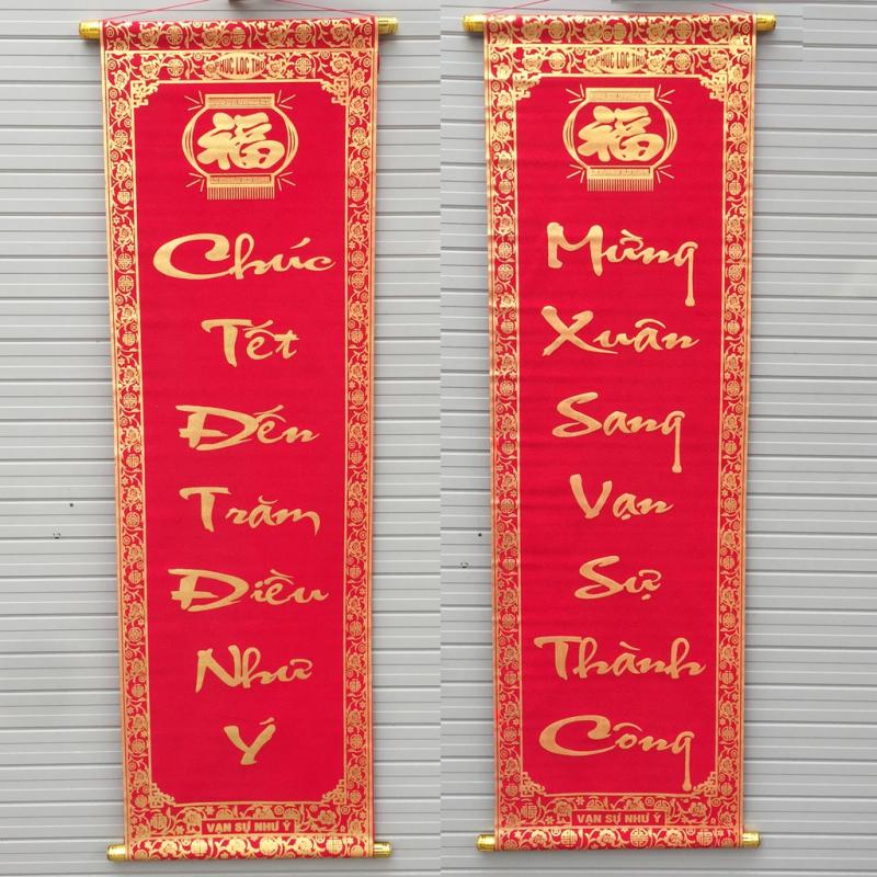 Treo câu đối Tết trong nhà đã trở thành truyền thống của người dân Việt Nam