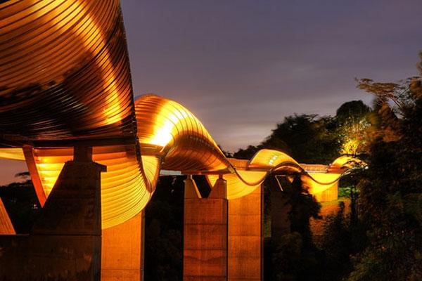 Cầu Henderson, Singapore với hệ thống đèn Led độc đáo