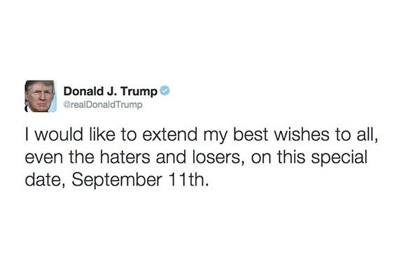 Câu nói của Trump trên trang cá nhân Twitter