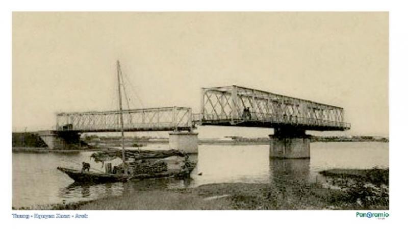 Hình ảnh cầu Quay ngày xưa - Khi cầu vẫn còn quay được