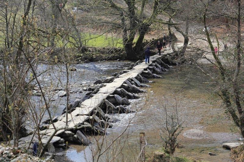 Cầu Tarr Steps ở Vương quốc Anh