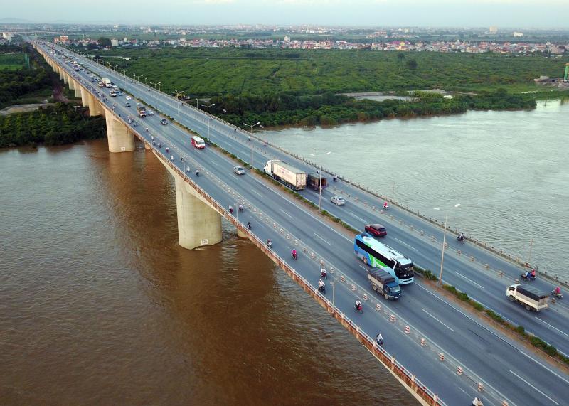 Cầu Thanh Trì cây cầu lớn nhất Hà Nội