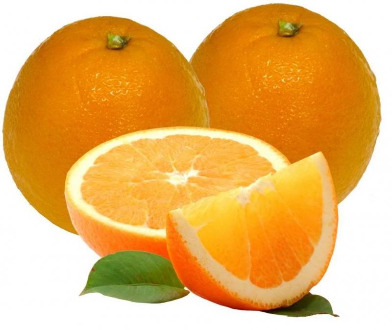 Vị cam ngọt đậm đà ẩn bên trong những múi cam mọng nước.