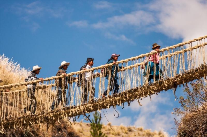 Cây cầu Qeswachaka ở Peru