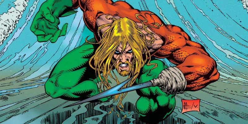 Trong truyện tranh, Aquaman từng bị cụt mất tay trái