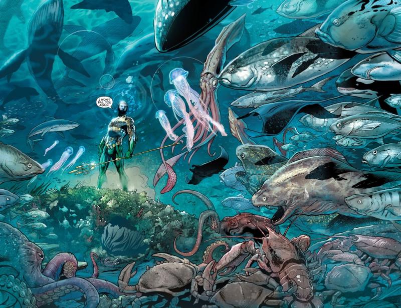 Aquaman có thể giao tiếp với tất cả sinh vật dưới biển