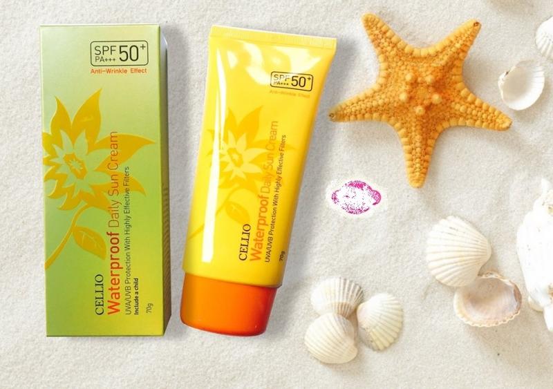 Kem chống nắng Cellio Waterproof Daily Sun Cream SPF50+ PA+++