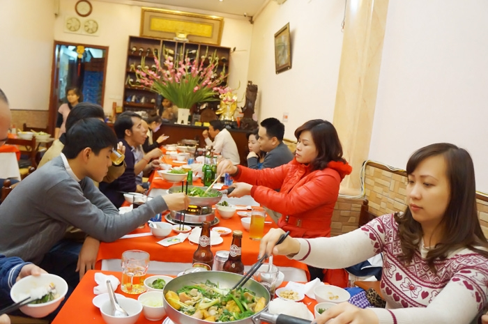Cozy space for guests to enjoy traditional Ha Thanh cuisine
