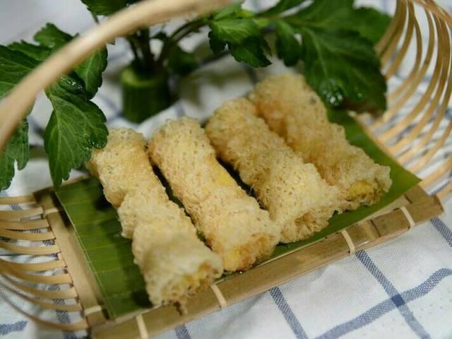 cách làm món ăn từ sầu riêng, chả giò sầu riêng