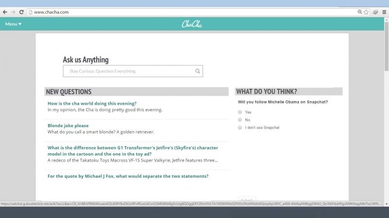 Giao diện của Chacha.com