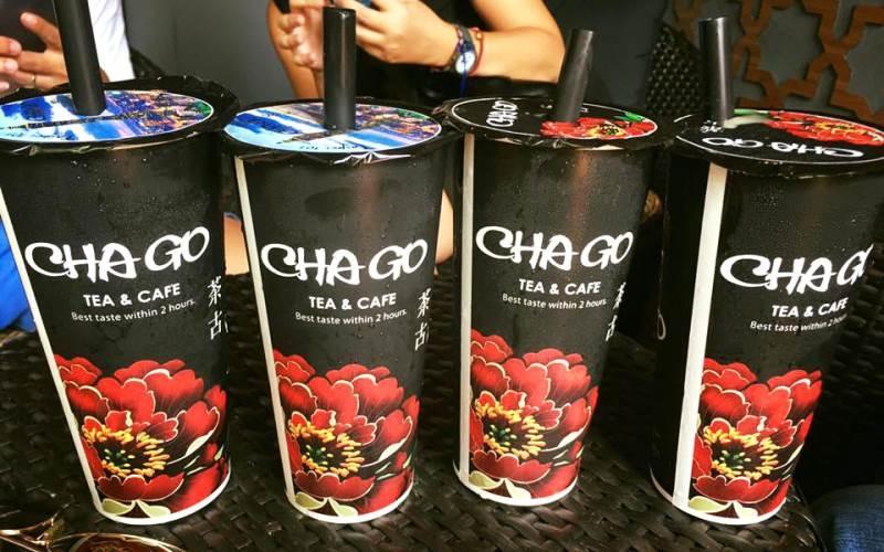Các cốc trà sữa Chago khá bắt mắt
