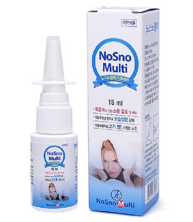 Chai xịt chống ngủ ngáy Nosno Multi